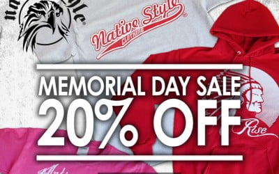 Native Style Clothing Memorial – Day Sale – 1 Day only
