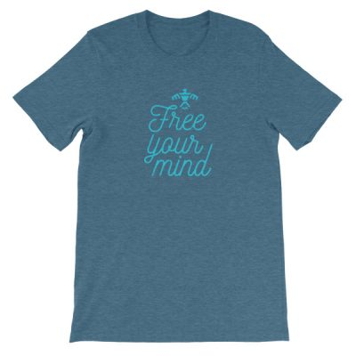 'Free Your Mind' Unisex short sleeve t-shirt
